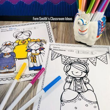 Fairy Tales Coloring Pages - 42 Pages of Fairy Tale Fun | TpT
