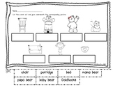 Fairy Tale Goldilocks Picture/Word Match Worksheet