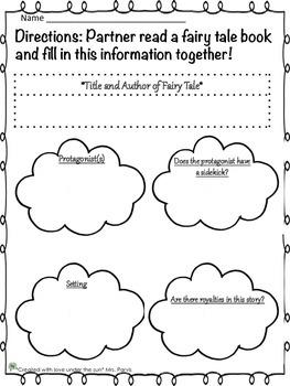 Fairy Tale Graphic Organizers