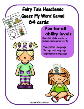 Fairy Tale Themed Headbands Game - Fun Pragmatic and Receptive Language Skills