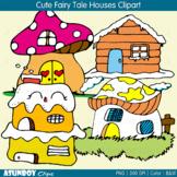 Cute Fairy Tale Houses Clipart Set {Asunboy Clips}