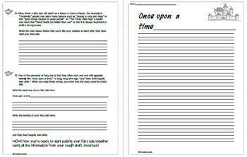 Fairy Tales Unit for Upper Elementary! Super Projects, Writing Template!