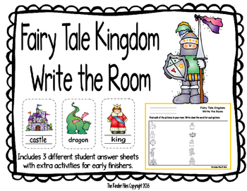 Fairy Tale Kingdom Write the Room- Includes 3 levels of an