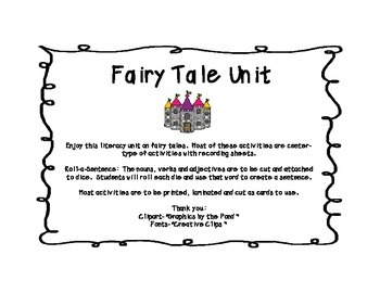 Fairy Tale Literacy Unit
