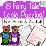 Fairy Tale Logic Puzzles for Print and Google Classroom! Critical Thinking