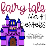 Fairy Tale Math Centers for Kindergarten