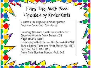 Fairy Tale Math Pack
