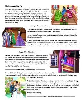 Fairy Tale Math - Princess and the Pea Handouts