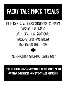 Fairy Tale Mock Trials