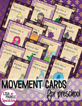 Fairy Tale Movement Cards for Preschool and Brain Break
