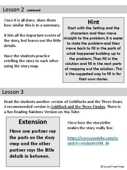 Fairy Tale Narrative Unit Detailed Lessons