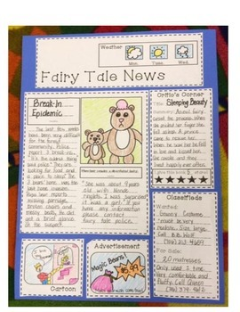 Fairy Tale News Culminating Writing Project