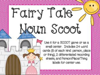 Fairy Tale Noun Scoot (or Small Center)
