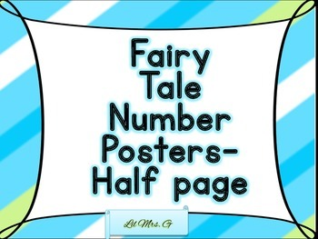 Fairy Tale Number poster- half page