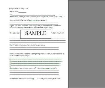 Fairy Tale Outline for Story Building
