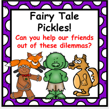 Fairy Tale  PICKLES Writing Activities