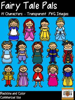 Fairy Tale Pals Clip Art Collection/Clipart - Princesses, Fairy Tale Characters