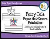 Fairy Tale Paper Hat/Crown Printables