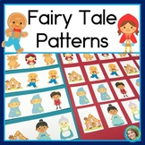Fairy Tale Patterns Math Center with AB, ABC, AAB & ABB patterns