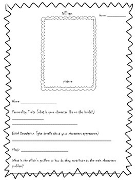 Fairy Tale Planning Graphic Organizers