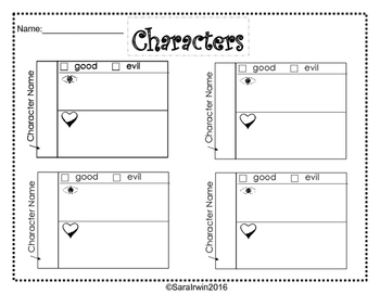 Fairy Tale Planning Sheets