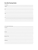 Fairy Tale Planning Sheets *Lucy Calkins Aligned*
