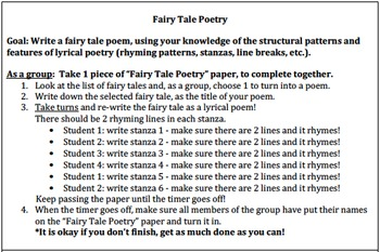Fairy Tale Poetry Station (Center)