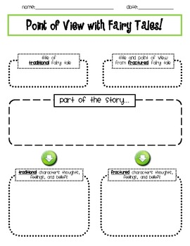 Fairy Tale Point of View Activity
