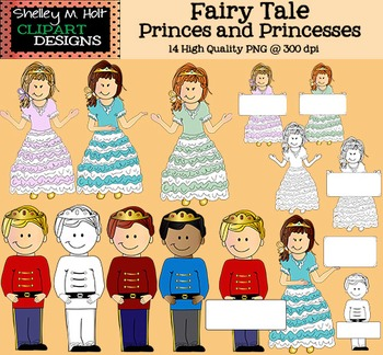Fairy Tale Prince and Princess Clipart
