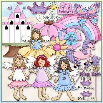 Fairy Tale Princess Clip Art - Fairy Tale Clip Art - CU Clip Art & B&W