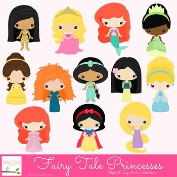 Fairy Tale Princess Digital clip Art Set
