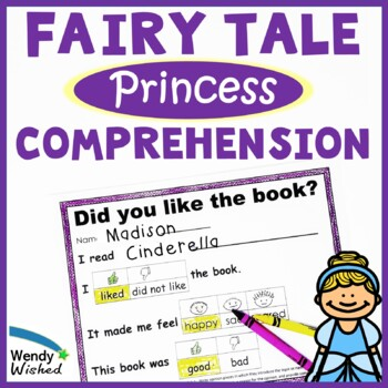Fairy Tale Princess Reading CCSS Retell, Character Traits