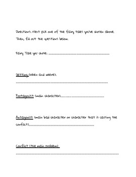 Fairy Tale Project: Literary Terms and Writing