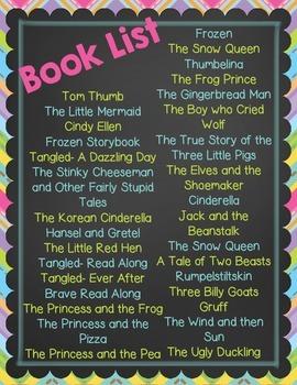 Fairy Tale QR Read Alouds- Listening Center