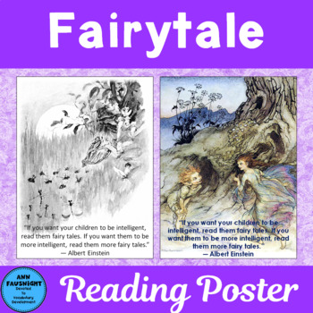 Fairy Tale Quote Poster By Ann Fausnight Teachers Pay Teachers