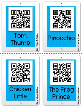 Fairy Tale and Fable QR Code Listening Center - 18 Links to Books!