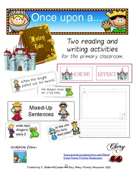 fairy tale reading writing activities for the k 2 classroom tpt. Black Bedroom Furniture Sets. Home Design Ideas