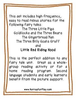 Fairy Tale Rebus Stories (English)