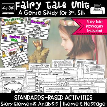 Fairy Tales 3rd Grade 4th Grade RL3.2 RL3.3 RL4.2 RL4.3 BUNDLE