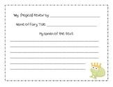 Fairy Tale Response Sheet