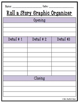 Fairy Tale Roll a Story - Prompts. Graphic Organizers, Word Lists and Rubric