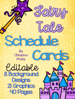 Fairy Tale Editable Schedule Cards and Labels