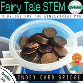 Fairy Tale STEM: Index Card Bridge {Gingerbread Man}