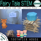 Fairy Tale STEM {Three Little Pigs} Build a Toothpick House