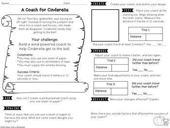 Fairy Tale STEM (Cinderella) Wind-powered Coach