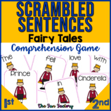 Scrambled Sentences Activities and Comprehension Game 1st, 2nd, 3rd  Fairy Tales