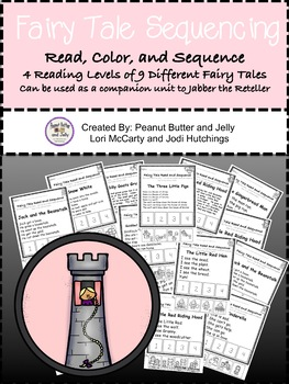 Fairy Tale Sequencing - Read, Color, & Sequence 9 Diffferent Fairy Tale Stories