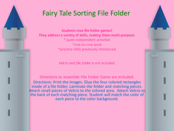 Fairy Tale Sorting File Folder