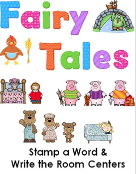 Fairy Tale Stamp a Word and Write the Room Centers