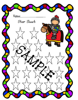 Fairy Tale Star Sheet behavior Tracker